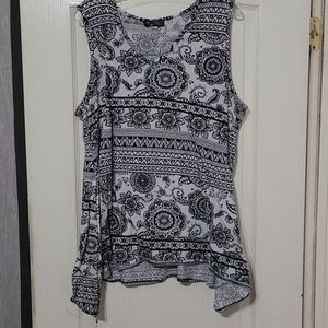 ACW Blue and white floral tank top.